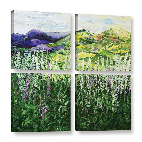 ArtWall Allan Friedlander 'Gentle Shadows' 4 Piece Gallery-wrapped Canvas Square Set