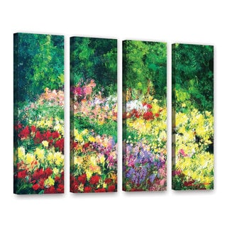 ArtWall Allan Friedlander 'Forest Garden' 4 Piece Gallery-Wrapped Canvas Set