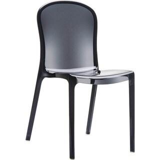 Victoria Polycarbonate Modern Transparent Chair (Set of 4)