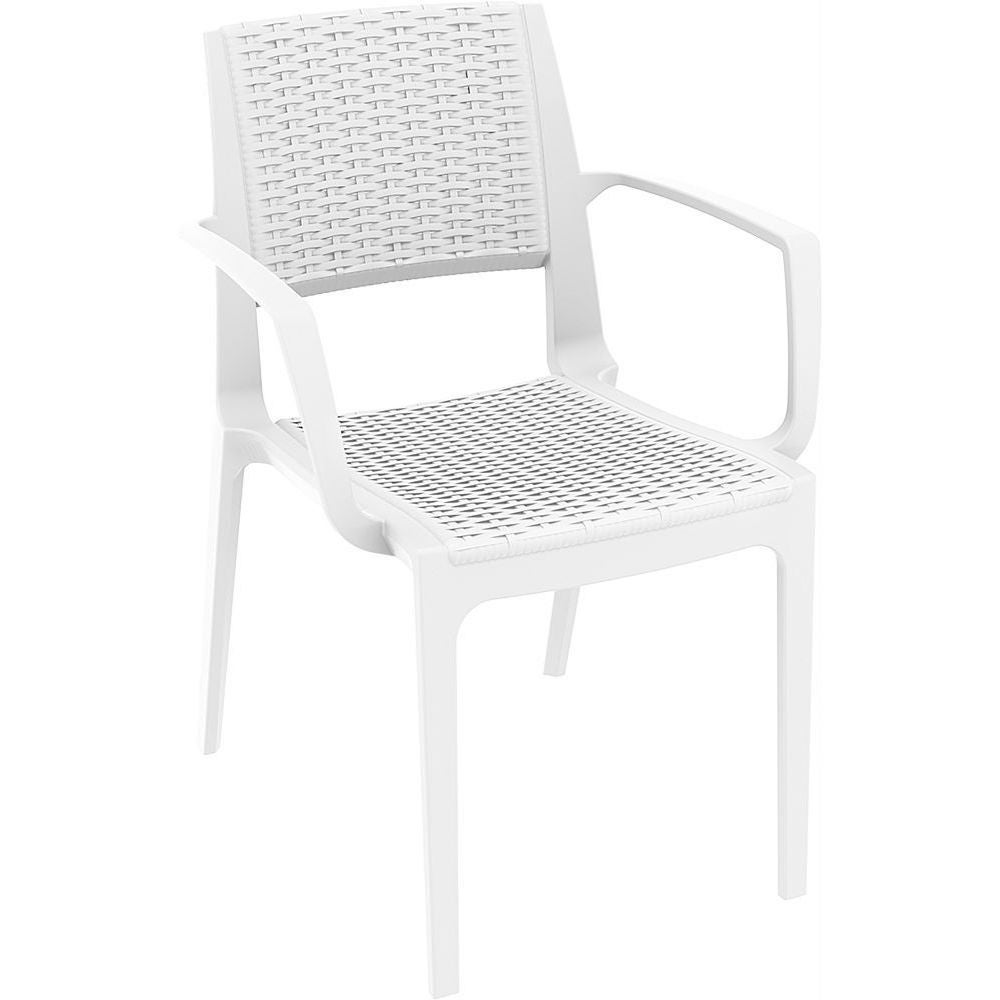 garden furniture chairs resin wicker look stacking patio arm chair