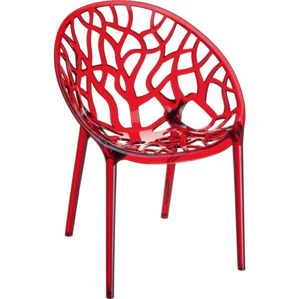 Crystal Polycarbonate Modern Transparent Chair (Set Of 4)