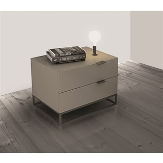 Vizzione Collection High Gloss Light Grey Lacquer Nightstand/ End Table