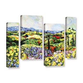 ArtWall Allan Friedlander 'Dream Valley' 4 Piece Gallery-wrapped Canvas Staggered Set