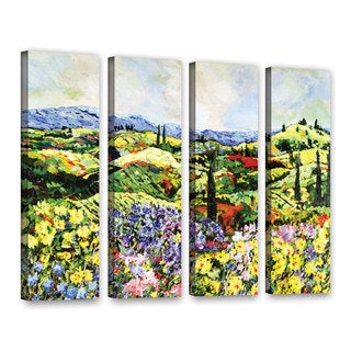 ArtWall Allan Friedlander 'Dream Valley' 4 Piece Gallery-Wrapped Canvas Set
