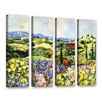 ArtWall Allan Friedlander 'Dream Valley' 4 Piece Gallery-Wrapped Canvas Set