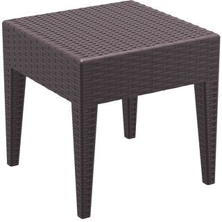 Miami Patio Indoor/ Outdoor Brown Resin Side Table
