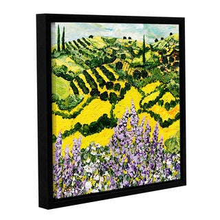 ArtWall Allan Friedlander 'Down The Hill' Gallery-wrapped Floater-framed Canvas