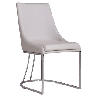Creek Collection White Eco-leather Dining Chair