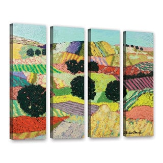 ArtWall Allan Friedlander 'Cyrstal Mountain' 4 Piece Gallery-Wrapped Canvas Set