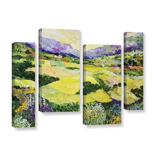 ArtWall Allan Friedlander 'Cool Grass' 4 Piece Gallery-wrapped Canvas Staggered Set