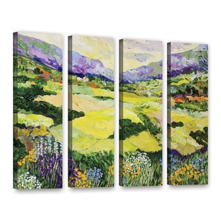 ArtWall Allan Friedlander 'Cool Grass' 4 Piece Gallery-Wrapped Canvas Set