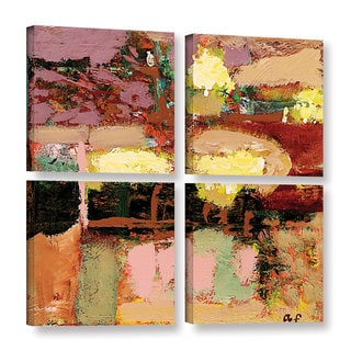 ArtWall Allan Friedlander 'Chop Liver' 4 Piece Gallery-wrapped Canvas Square Set