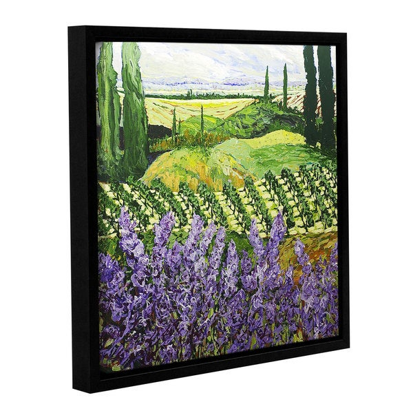 ArtWall Allan Friedlander 'Chinaberry Hill' Gallery-wrapped Floater-framed Canvas
