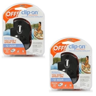 Off! Clip on Mosquito Repellent Fan - Black