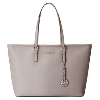 Michael Kors Jet Set Pearl Grey Medium Tote Handbag