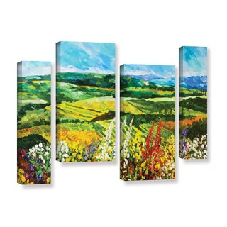 ArtWall Allan Friedlander 'Change Is In The Air' 4 Piece Gallery-wrapped Canvas Staggered Set