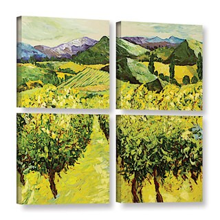 ArtWall Allan Friedlander 'A Good Year' 4 Piece Gallery-wrapped Canvas Square Set