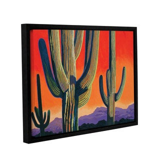 ArtWall Rick Kersten 'Saguaro Dawn' Gallery-wrapped Floater-framed Canvas