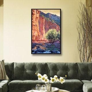 ArtWall Rick Kersten 'The West Fork' Gallery-wrapped Floater-framed Canvas
