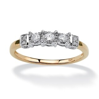 10k Yellow Gold 1/5ct TDW Diamond Side Heart Detail Ring (H-I, I2-I3)