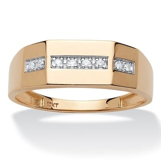 PalmBeach 10k Yellow Gold Men's 5/8ct TDW Diamond Wedding Band (H-I, I1-I2)