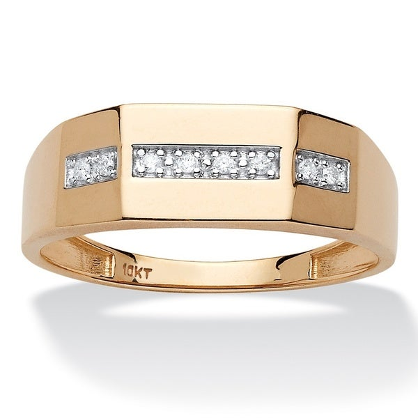 10k Yellow Gold Men's 5/8ct TDW Diamond Wedding Band (H-I, I1-I2)