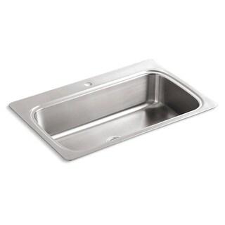 Kohler Verse Self-Rimming Stainless Steel 33x22x8.25 Kitchen Sink