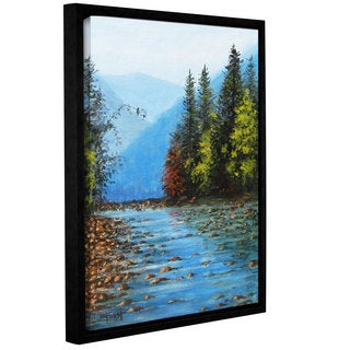 ArtWall Gene Foust 'Purified' Gallery-wrapped Floater-framed Canvas