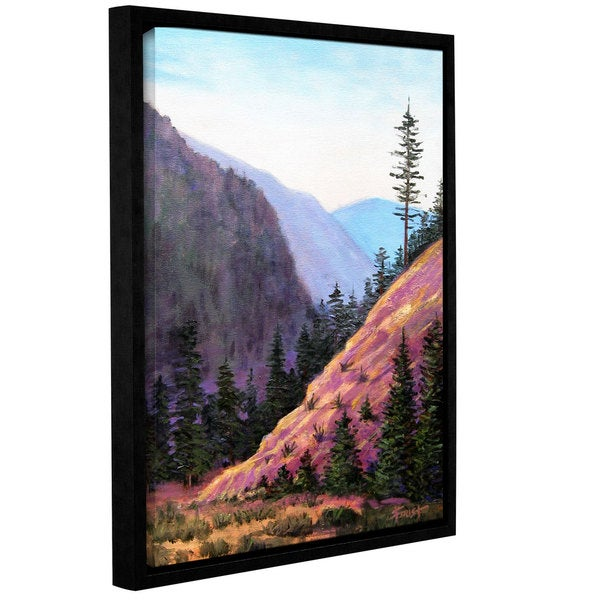 ArtWall Gene Foust 'Let Live' Gallery-wrapped Floater-framed Canvas