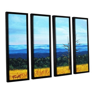 ArtWall Gene Foust 'Serene Mountain Tops' 4 Piece Floater Framed Canvas Set