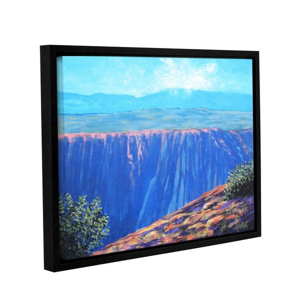 ArtWall Gene Foust 'Serene Mountain Tops' Gallery-wrapped Floater-framed Canvas - Multi