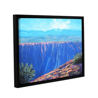 ArtWall Gene Foust 'Mountain Dropoff' Gallery-wrapped Floater-framed Canvas