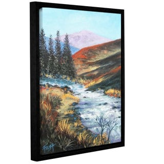 ArtWall Gene Foust 'Rolling Rapids' Gallery-wrapped Floater-framed Canvas