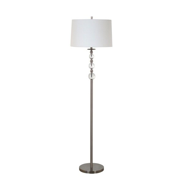 61-inch Glass Ball Nickel Finsih Floor Lamp