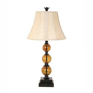 29-inch Amber Glass Table Lamp