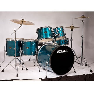 Tama Imperialstar 6-piece Hairline Blue Complete Drum Kit