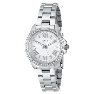 Fossil Women's AM4576 'Cecile' Crystal Stainless Steel Watch