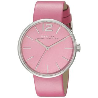 Marc Jacobs Women's MBM1363 'Peggy' Pink Leather Watch