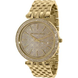 Michael Kors Women's MK3398 'Darci' Crystal Gold-Tone Stainless Steel Watch