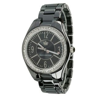 Juicy Couture Women's 'Lively' Crystal Black Ceramic Watch