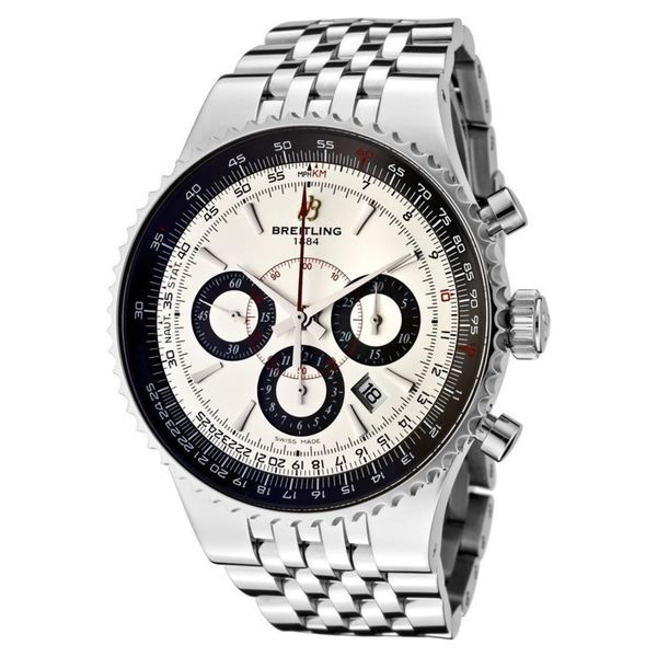 Breitling Men's A23351A6-G741 'Montbrillant' Chronograph Automatic Stainless Steel Watch. Opens flyout.