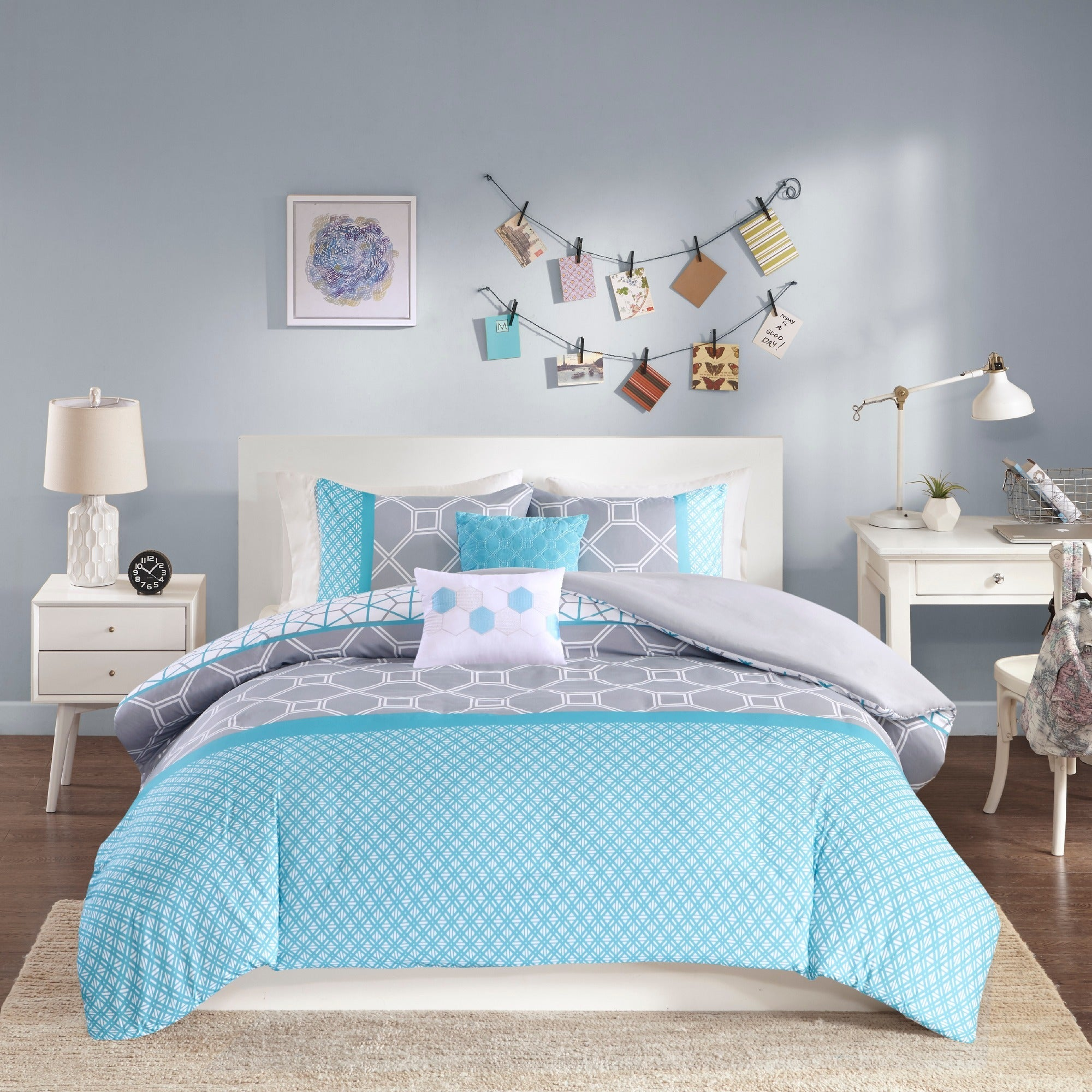 set shipping bedding overstock product com stripe bath piece on bed genova comforter free
