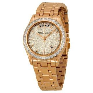 Michael Kors Women's MK6146 'Kiley' Crystal Rose-Tone Stainless Steel Watch