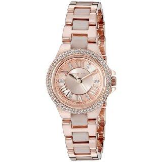 Michael Kors Women's MK4292 'Petite Camille' Crystal Rose-Tone Stainless Steel Watch