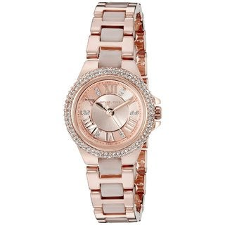 Michael Kors Women's MK4292 'Petite Camille' Crystal Rose-Tone Stainless Steel Watch