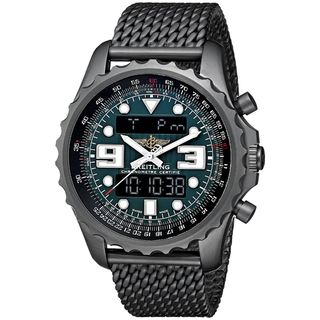 Link to Breitling Men's M7836522-L521 'Chronospace' Automatic Analog-Digital Black Stainless steel Watch Similar Items in Men's Watches
