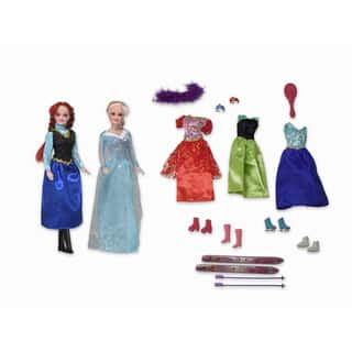 Twin Snow Princesses with Outfits and Accessories|https://ak1.ostkcdn.com/images/products/10399630/P17501890.jpg?impolicy=medium