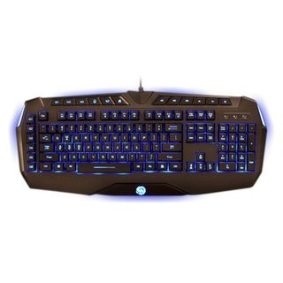 TTX Tech Black USB Professional Gaming LCD Backlit Keyboard
