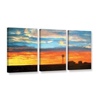 ArtWall Gene Foust 'Farmville' 3 Piece Gallery-wrapped Canvas Set