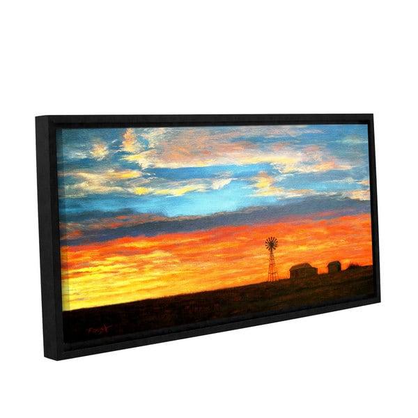 ArtWall Gene Foust 'Farmville' Gallery-wrapped Floater-framed Canvas - Multi